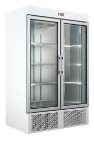 under mounted refrigerated cabinets with glass door