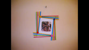 diy easy photo frame birthday gift idea room decoration made with colorful paper