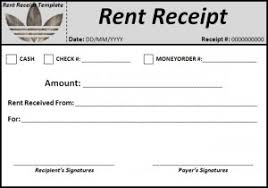 examples of rent receipts rent receipt template word excel templates