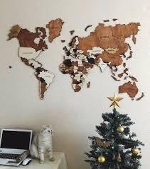 world map wall art wood wall art