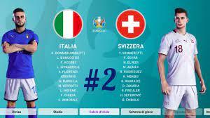 PES - EURO 2020 (Fase a Gironi) ITALIA VS SVIZZERA - YouTube