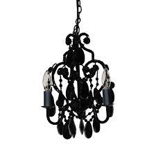 3 light black onyx mini chandelier