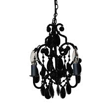 tadpoles 3 light black onyx mini chandelier