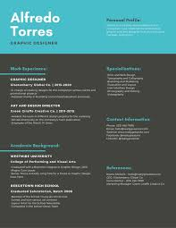 Modern Newsetter Resume Templates Turquoise Modern Infographic Resume Templates By Canva