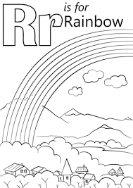 Small Picture Letter R is for Rainbow coloring page Free Printable Coloring Pages
