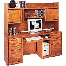 martin furniture contemporary computer credenza with hutch in um oak