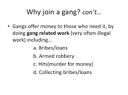 gang violence <br > 9
