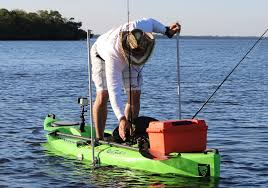 with two sticks in the bottom a kayak ancd with a swivel stick is very