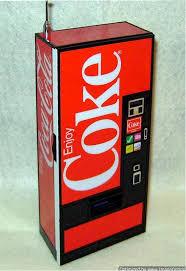 Coca Cola Vending Machine Radio Amazing Coke Vending Machine AMFM Radio SOLD Item Number 48