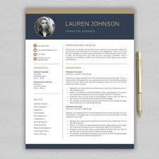 A Perfect Example Of Modern Resume Resume Template For Word And Pages Professional Resume