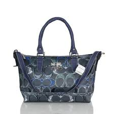 Popular Coach In Monogram Large Navy Totes Bwr Online 9rt2X