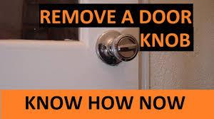 remove door knob. how to remove a door knob