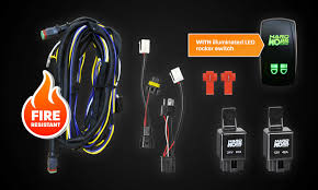dual wiring harness backlit rocker switch hard korr lighting hkwirhar 12v and 24v dual wiring harness kit illuminated led rocker switch