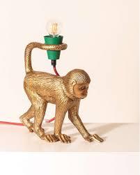 mika monkey gold table l