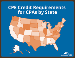 Aicpa Due Date Chart 2018 Cpe Credit Requirements By State Organizations Western Cpe