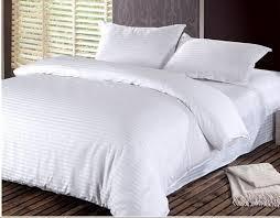 whole 100 cotton damask stripe bedding setsduvet cover flat sheet pillowcase twin full queen king hotel solid bedsheet duvet covers for men cotton
