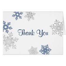 snowflake thank you cards special occasion note cards zazzle