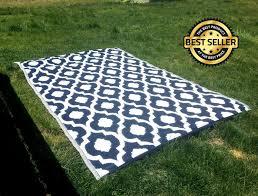 indoor outdoor patio rug mat rv camping reversible carpet beach area rug 6 x9