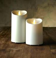 luminara outdoor flameless candles with timer candle remote pillar set control