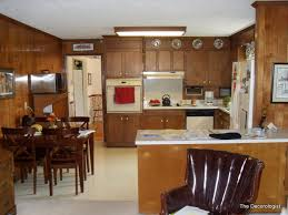 dated wood cabinets before kitchen before design intervention