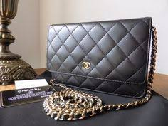 chanel uk. chanel woc wallet on chain in black lambskin with gold hardware \u003e https:// uk p