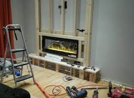 Homemade Fireplaces Part 20: Pallet Media Cabinet Inside