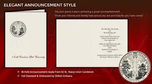 Elegant Graduation Announcements North Carolina State University Graduation Announcements