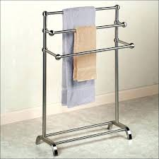 lovely standing bath towel rack free