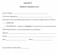 Medical Clearance Form - Resume Template Ideas