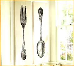 fork spoon wall decor decorative wooden spoons improvement large knife and remarkable big 5 giant target silver spo
