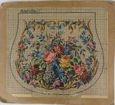 Berlin Wool Work Charts Antique Vintage Berlin Woolwork Chart Hand Painted Tapestry