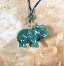 canadian jade elephant pendant green jade natural jade jade necklace