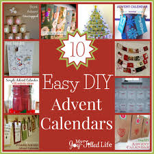 easy calendars 10 easy diy advent calendars my joy filled life