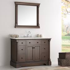Carrera Countertops inch antique coffee bathroom vanity with mirror carrera marble 3466 by guidejewelry.us