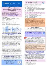 contacts at stpauls dates for your diary at stpauls this week at stpauls