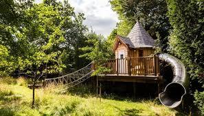 Blue Forests fairytale treehouse complete with its own slide