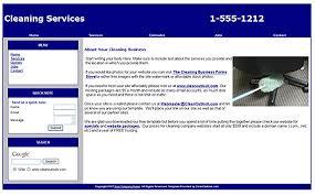 Cleaning company website template via Relatably.com