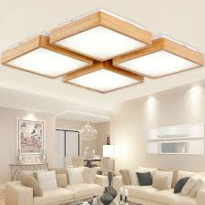 ceiling lighting for bedroom. new creative oak modern led ceiling lights for living room bedroom lampara techo wooden lighting o