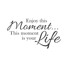 Quotes About Enjoying The Moment Classy Wall Quotes Wall Decals Enjoy The Moment THAT'S LIFE