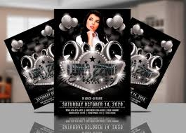 Birthday Invitation Flyer Template Mesmerizing Black And White Party Invitation Template Black White Club Etsy