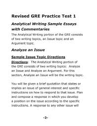 003 Essay Example Gre Argument How To Write Formatted Resume