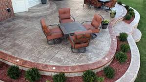 Stained concrete patio Two Toned Image Of Stained Concrete Patio Paint Paint Daksh Beautiful Concrete Patio With Trailing Acid Stained Chris Loves Julia Stained Concrete Patio Paint Paint Daksh Beautiful Concrete Patio