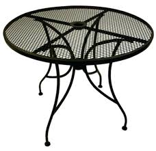 round patio table set wrought iron patio table outdoor tables from seating corp vintage wrought iron