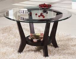 Furniture, Black Round Traditional Wood Legs And Glass Top Coffee Table And  End Tables Set