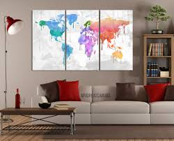 bright coloured wall art canvas