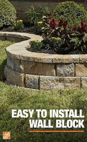 easy to install wall block front yard