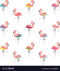 Flamingo Pattern Extraordinary Colorful Flamingo Pattern Royalty Free Vector Image