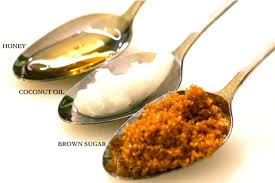 Image result for brown sugar honey and coconut oil scrub pic
