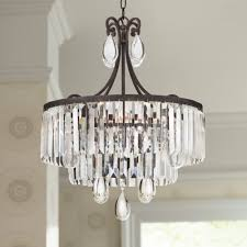 image of picture of bronze crystal chandelier