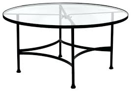 round wrought iron coffee table top glass classic with legs small base
